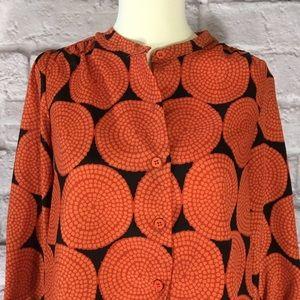 Collective Concepts size XS blouse Orange brown